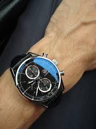 tag heurer carrera chronograph watch black face black leather tag heurer carrera chronograph watch black face black leather strap