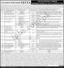 jobs and scholarships portal govt jobs tevta punjab ptevta jobs 2016