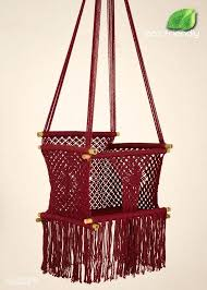 friendly macrame baby swing chair for infant by bamboo india cane furniture swing rattan bamboo chairs