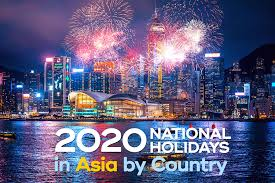 2020 national holidays in asia by