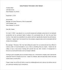 termination letter template sample termination letter for employee on probation erpjewels com