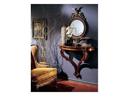 console mirror 863 round mirror with decorated wooden frame