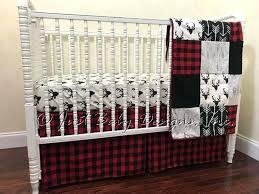 buffalo plaid crib sheet red and black bedding