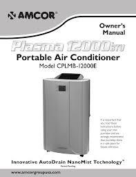 Amcor Air Conditioner Comp Light Amcor Cplmb 12000e Owner S Manual Manualzz Com
