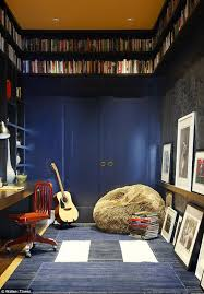 Bedroom: Boys Music Bedroom With Guitar Shelving - Music Room