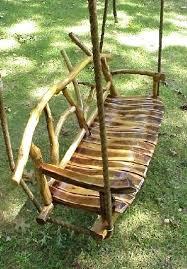 rustic tree furniture. gumtree perth garden swing tree natural furniture rustic wooden