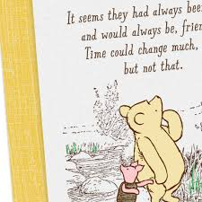 Disney Winnie The Pooh Grateful For You Friendship Card