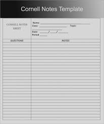 notes sheet template pictures blank cornell notes template word note pertamini co 2018