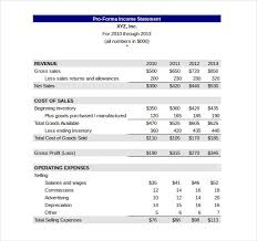 financial statement format pro forma financial statement template well portrayal income excel