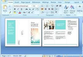 Template Word Brochure Tri Fold Brochure Template Word Microsoft Tri