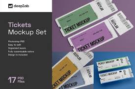 Wristband mockup are an apt pick for you if you are looking forward to showcasing your design to your clients in addition to customers in an exceptional as well as a professional manner. Tickets Mockup Set 17 Styles In 2020 Mockup Promotional Design Event Ticket