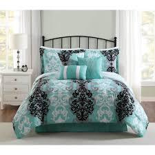 studio 17 downton black grey aqua 7 piece king comforter set