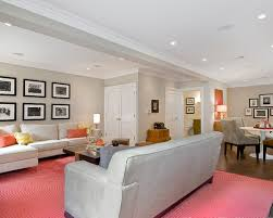 best paint for basement wallsCatchy Pink Carpet For White Wall Basement As Living Room Area