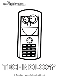 Technology Coloring Page - A Free Educational Coloring Printable
