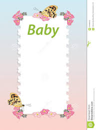 Small Card Template Baby Shower Invitation Arrival Card With Place For Text Template
