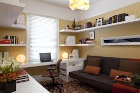 futon office. How Much Are Futons With Modern Home Office And Area Rug Built In Desk Shelving Butter Yellow Wall Paint Couch Guest Room Kilim Futon