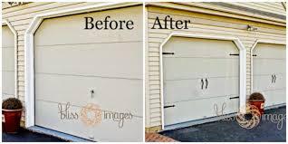 quick inexpensive garage door update