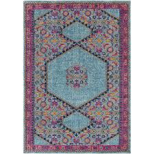 pink and turquoise rug doubtful mistana fredonia tibetan blue area reviews wayfair home ideas 7
