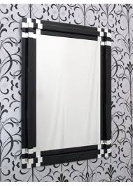 rectangular art deco black block wall mirror thumbnail 1 thumbnail 1