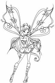 Winx Club Coloring Pages Enchantix Colour In Pages Fairy