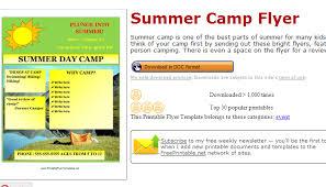 5 Summer Camp Flyer Templates Af Templates