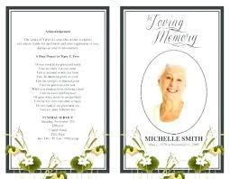 Printable Funeral Program Template Free Service Memorial