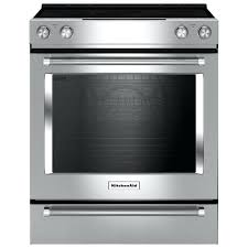 kitchen aid stoves cu ft self clean convection slide in electric range stainless steel kitchenaid stove