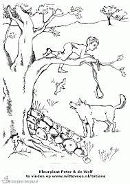 Kleurplaat Peter En De Wolf Music Education Music Worksheets