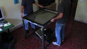 Led Coffee Table Diy How To Build Your Own Multitouch Table Youtube