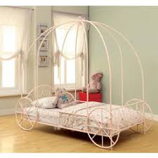 Powell Princess Emily Carriage Canopy Full Size Bed