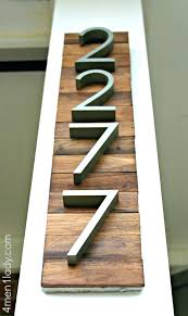 custom house number plaques paint stir stick numbers wooden house number plaque how to make a custom house number