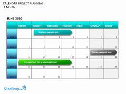 Project Calendar Template 2016