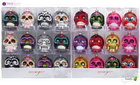 Weihnachtskugel Glas Totenkopf Kreativmarkt Butterfly