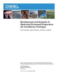 pdf development and ysis of desiccant enhanced evaporative air conditioner prototype