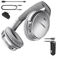 bose noise cancelling headphones 35. bose quietcomfort 35 (series i) bluetooth wireless noise cancelling headphones - silver \u0026 car i
