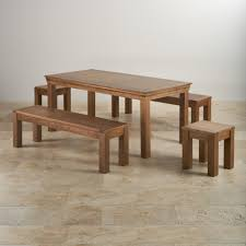 french oak dining set 6ft table with 2 benches stools