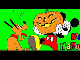 Small Picture Mickey Mouse and Pluto Happy Halloween Coloring Page YouTube