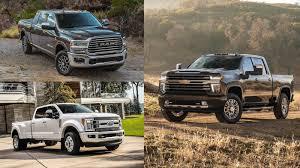 2020 Silverado HD compared with current heavy duty pickup trucks ...