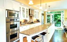 One Wall Kitchen Designs With An Island Plans Simple Ideas