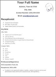 How To Make A Resume For A Receptionist Job Receptionist Resume