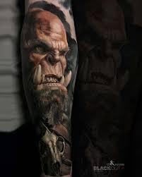 World Of Warcraft Tattoo Orc Realistic Tattoos Tatuajes Mejor