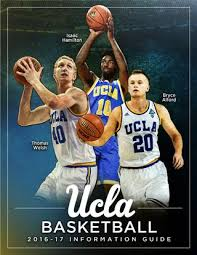 2016 17 Ucla Mens Basketball Information Guide By Ucla