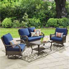 patio furniture better homes and gardens colebrook 4 piece outdoor conversation set
