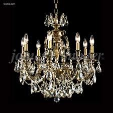 nova paris 8 light cast brass crystal chandelier in honey bronze with swarovski crystal golden teak