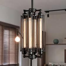edison pendant lighting. Edison Vintage Flute Pendant Lamp Loft Wrought Iron Chandeliers Dining Room Retro Bulb Hanging European Indoor Lighting Fixture V