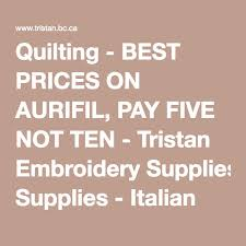 Quilting - BEST PRICES ON AURIFIL, PAY FIVE NOT TEN - Tristan ... & Quilting - BEST PRICES ON AURIFIL, PAY FIVE NOT TEN - Tristan Embroidery  Supplies - Adamdwight.com
