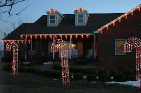unique christmas lighting. Candy Cane LED Lighted Yard Displays And Roofline Lighting Unique Christmas