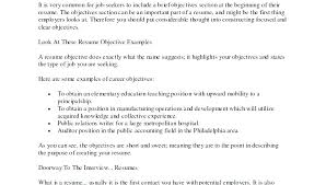 What To Put As An Objective On A Resume Should A Resume Have An