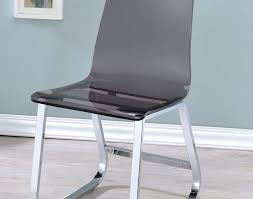 acrylic furniture legs. Chair : Beautiful Acrylic Dining Chairs Chrome Metal Legs Contemporary Style Smoke Grey Color Stylish Side Modern Intriguing Furniture Uk