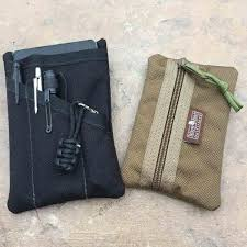 need a way to keep your handful of small edc essentials from banging around in your pocket have a look at the yellow birch outfitters pockit edc pocket